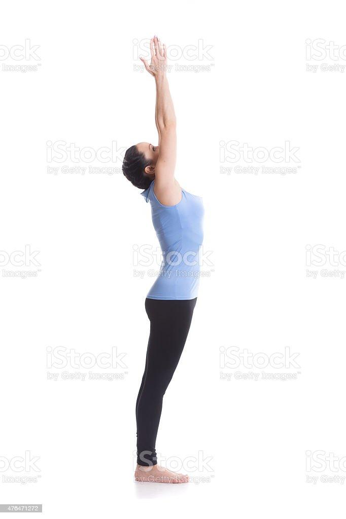 Upward Hand yoga Pose stock photo