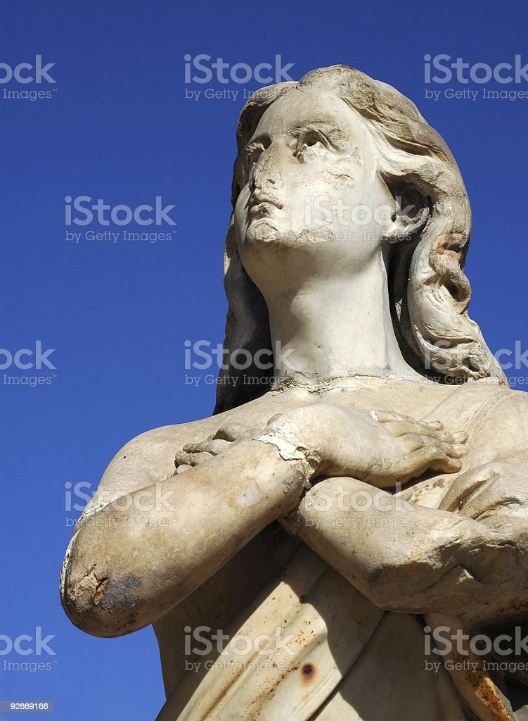 Upward Looking Statue 2 royalty-free stock photo