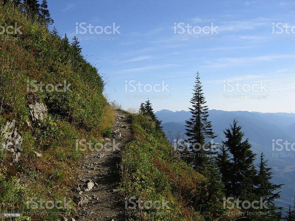 Upward Trail stock photo
