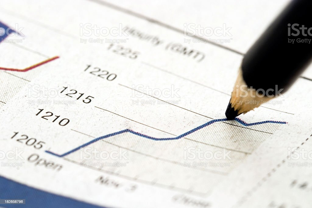 Upward trend royalty-free stock photo