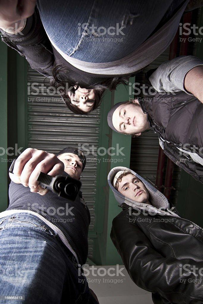 Upward View of Gang royalty-free stock photo