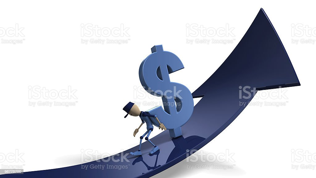 upwards -dollar royalty-free stock photo
