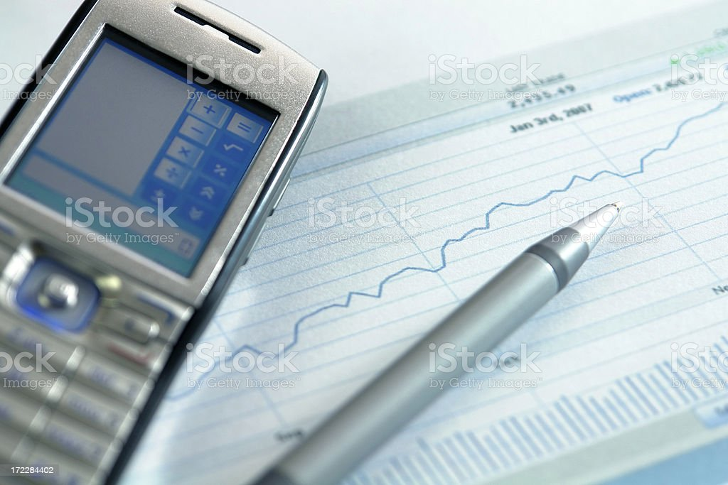 Upwards going graph royalty-free stock photo