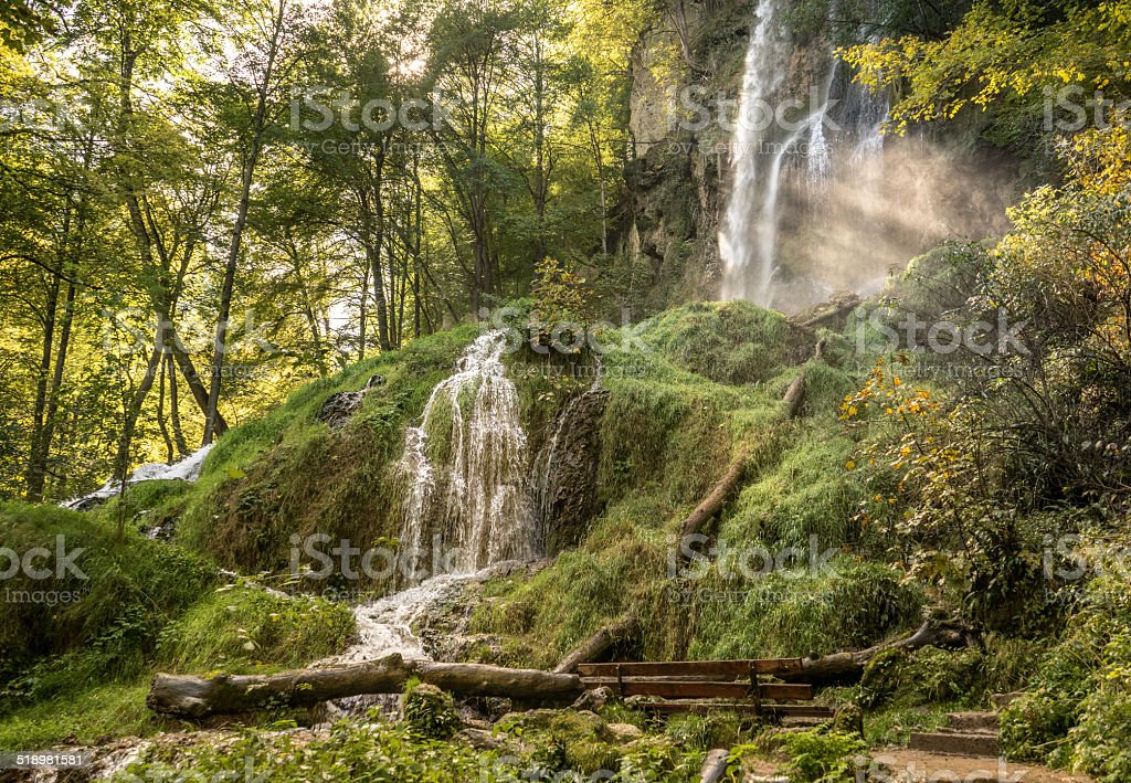 Urach waterfall royalty-free stock photo