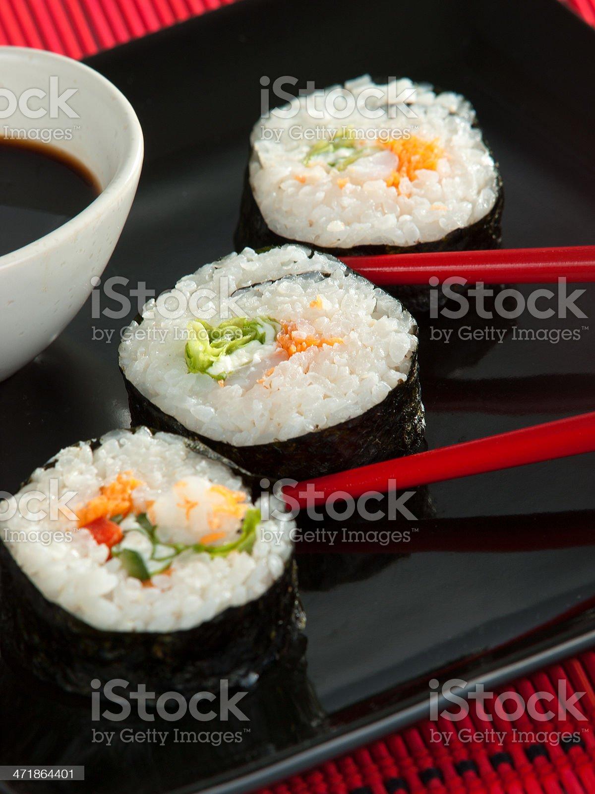 Uramaki sushi royalty-free stock photo