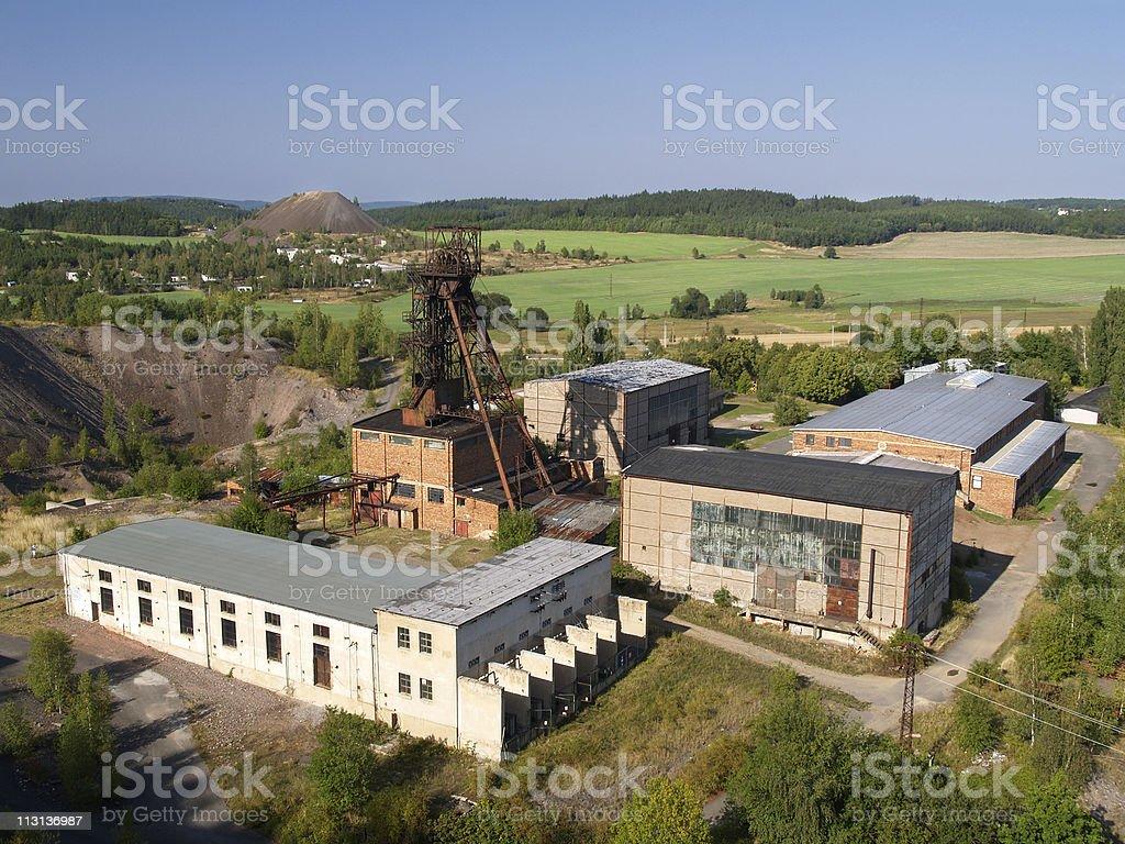 Uranium mine near Pribram stock photo