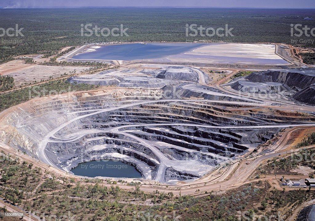 Uranium mine stock photo