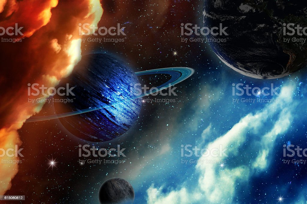uranus planet. including elements furnished by NASA. stock photo