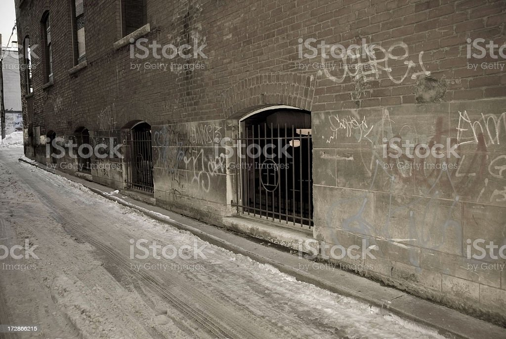 Urban Alley royalty-free stock photo