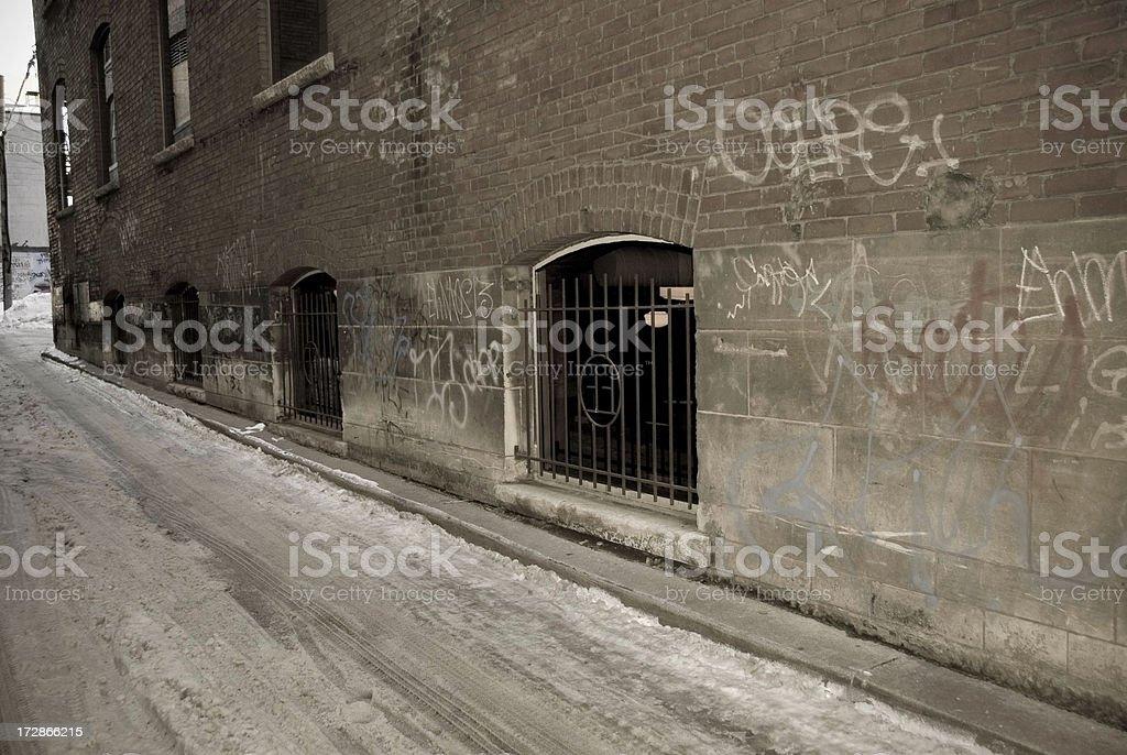 Urban Alley stock photo