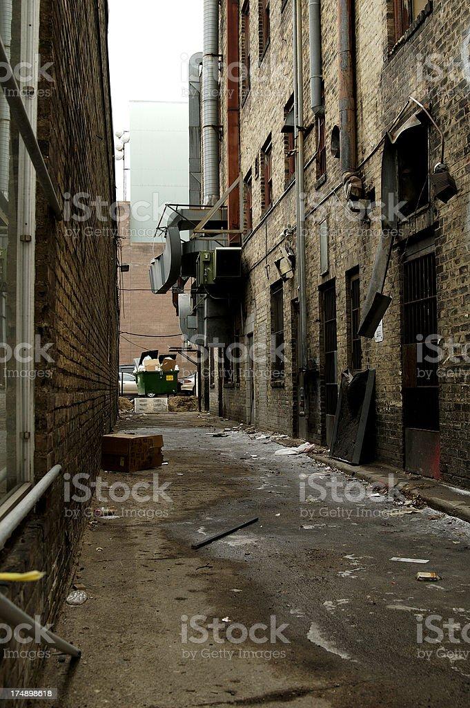 Urban Alley royalty-free stock photo