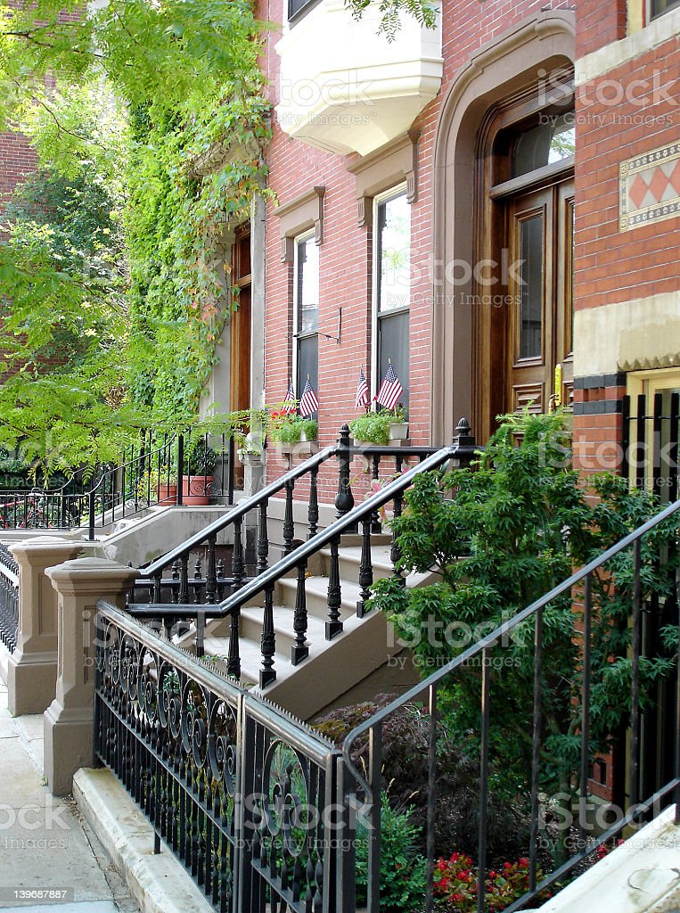 Urban American Neighborhood royalty-free stock photo