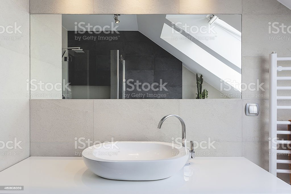 Urban apartment - bath counter stock photo