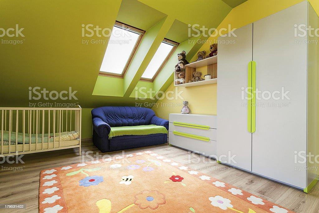 Urban apartment - child's room royalty-free stock photo