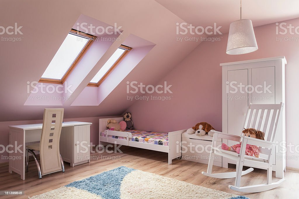 Urban apartment - kids room stock photo
