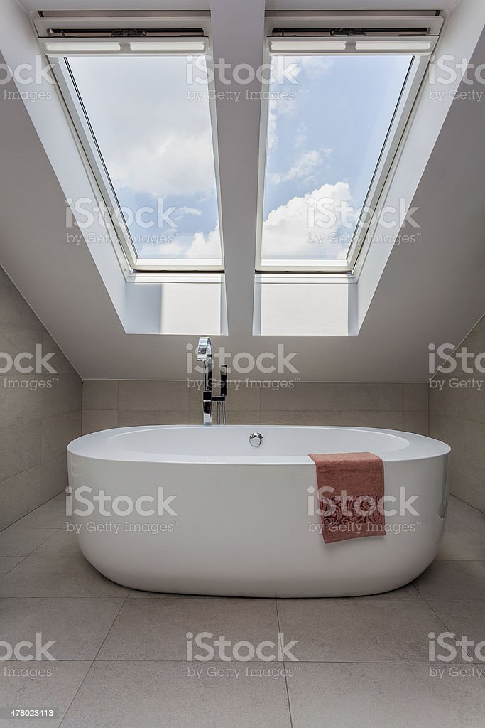 Urban apartment - modern bath royalty-free stock photo