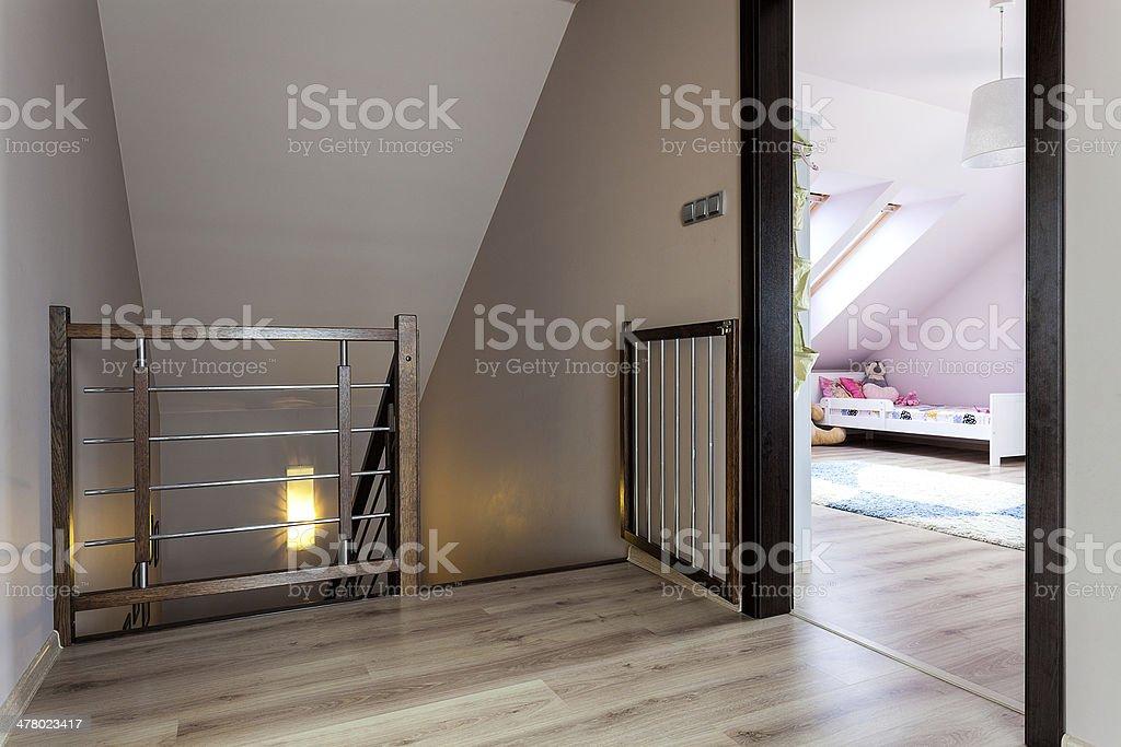 Urban apartment - staircase royalty-free stock photo