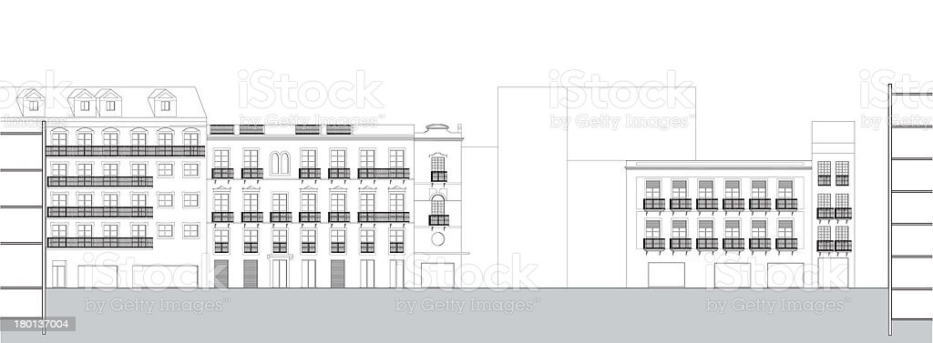 Urban Architectural section royalty-free stock photo