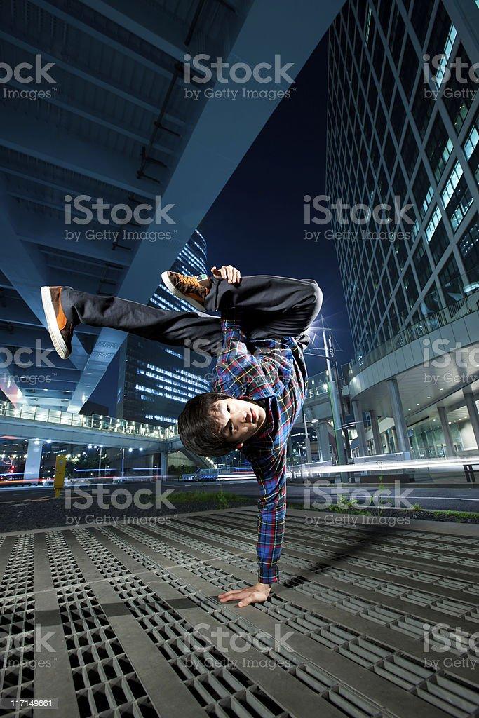 Urban Asian Breakdancer stock photo