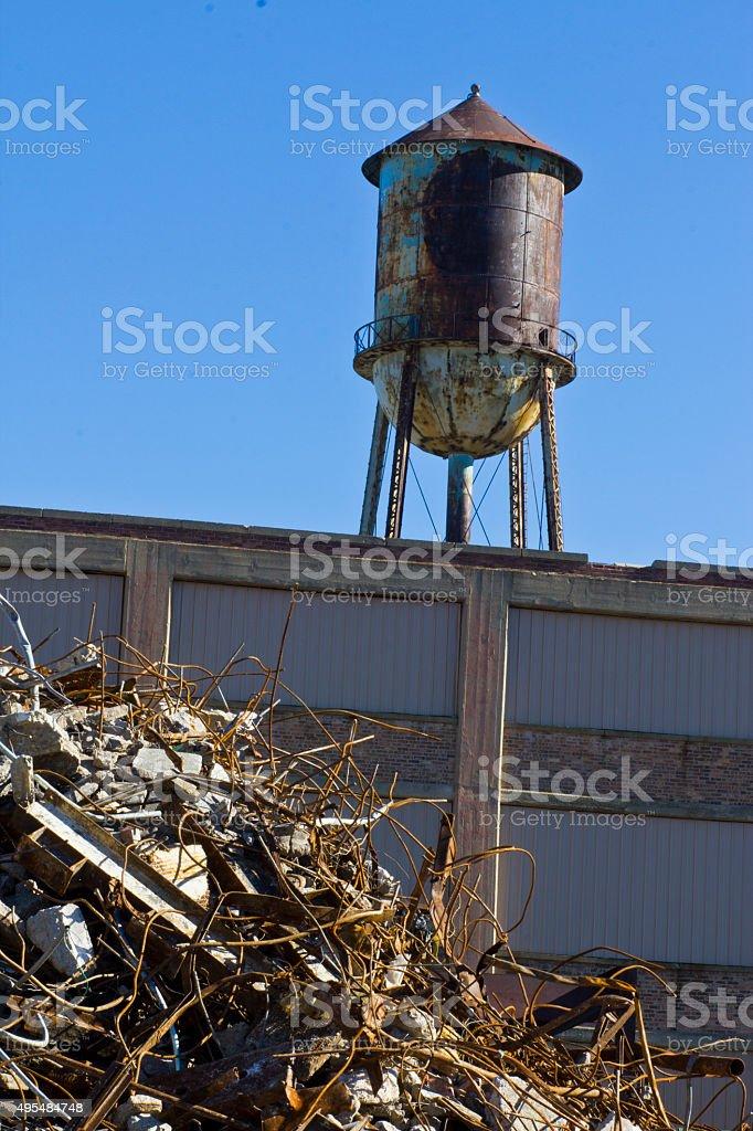 Urban Automotive fléau XIV-ancienne usine automobile-poste photo libre de droits