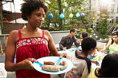 Urban backyard barbecue party