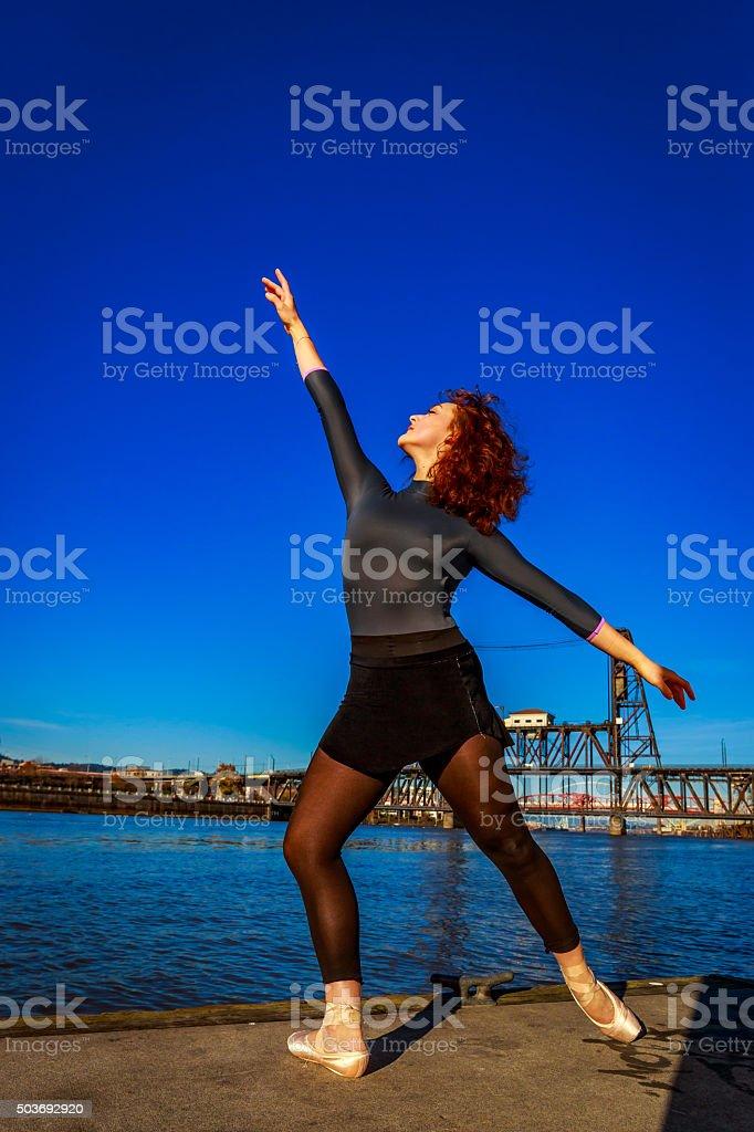 Urban Ballerina stock photo