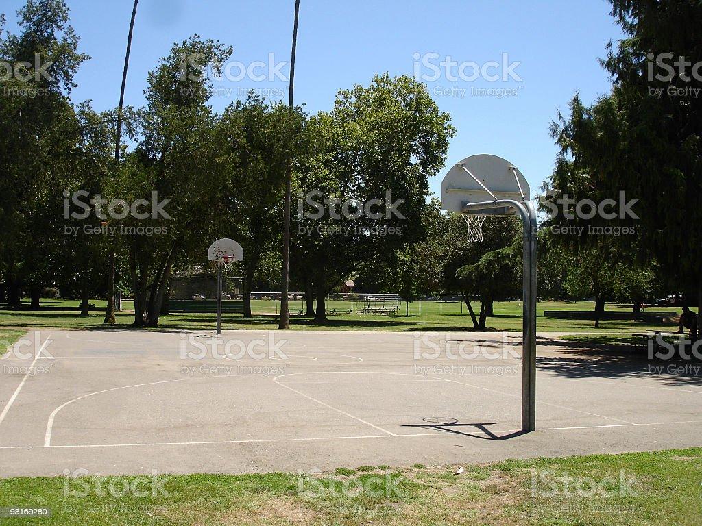 Urban basketball court royalty-free stock photo