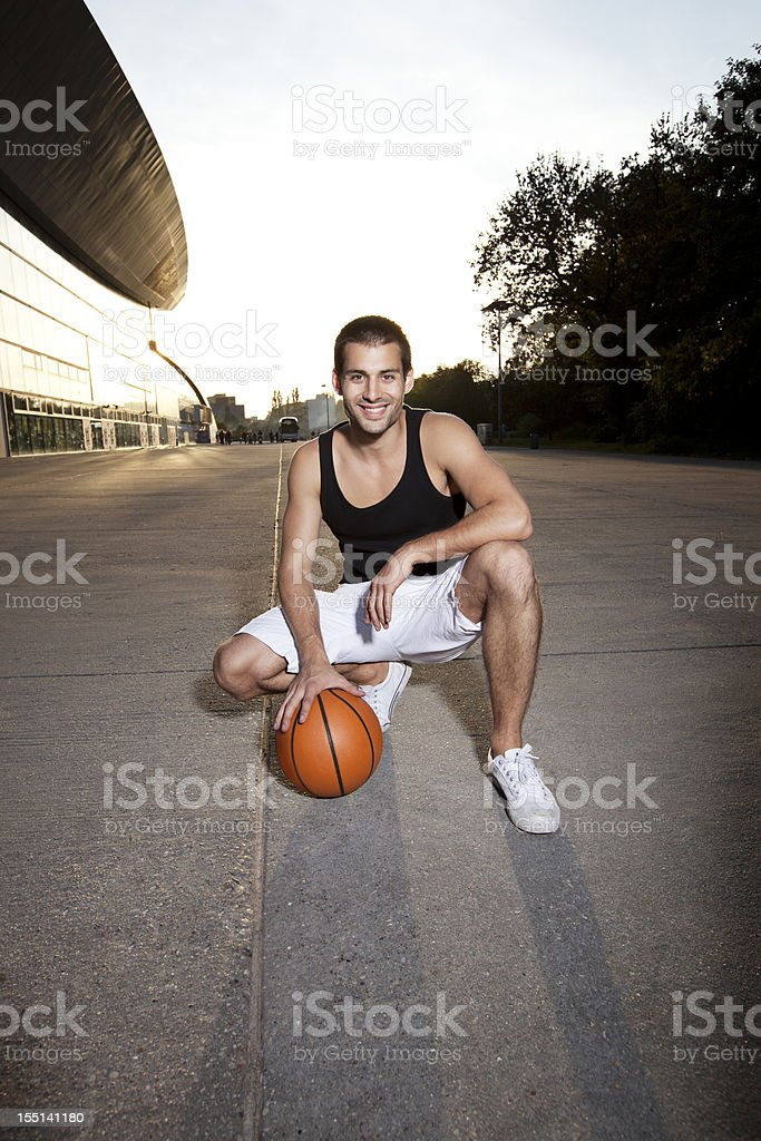 Urban Basketball Player royalty-free stock photo