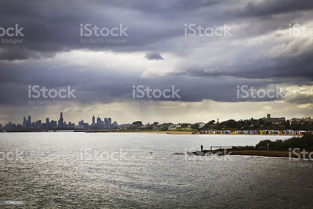 Urban beach landscape royalty-free stock photo