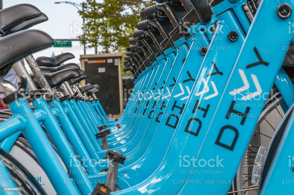Urban Bikes For Rent in Chicago stock photo