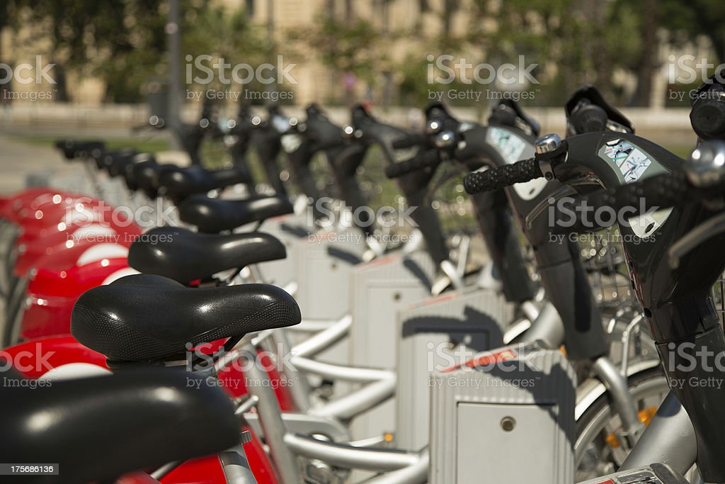 Urban bikes for rent royalty-free stock photo