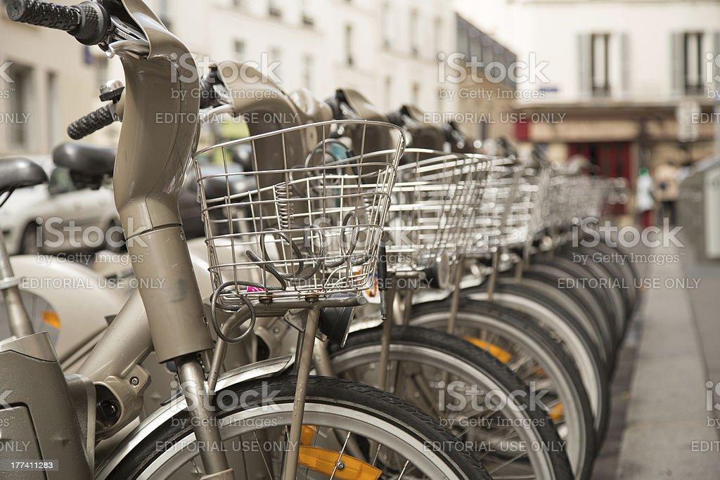 Urban Bikes For Rent stock photo