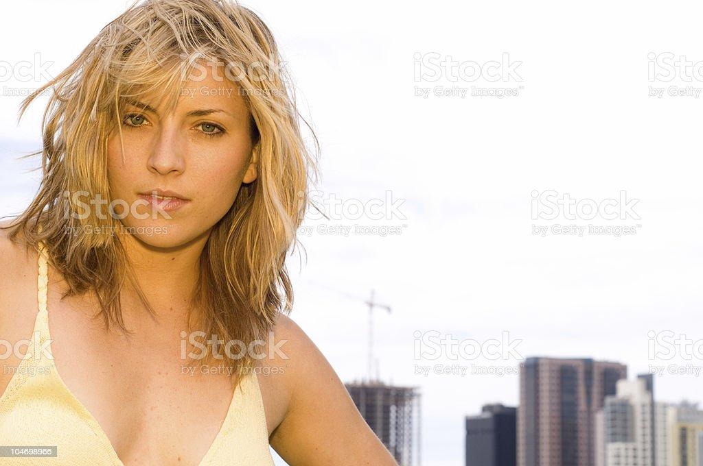 Urban Blond stock photo