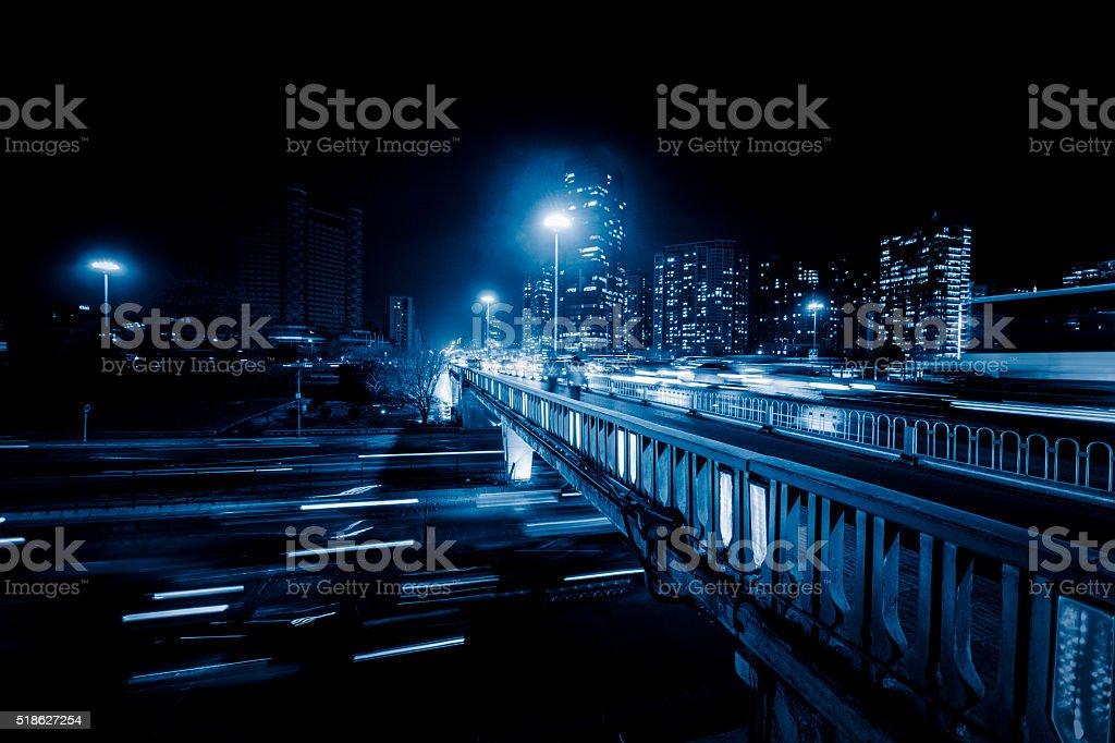 Urban bokeh stock photo