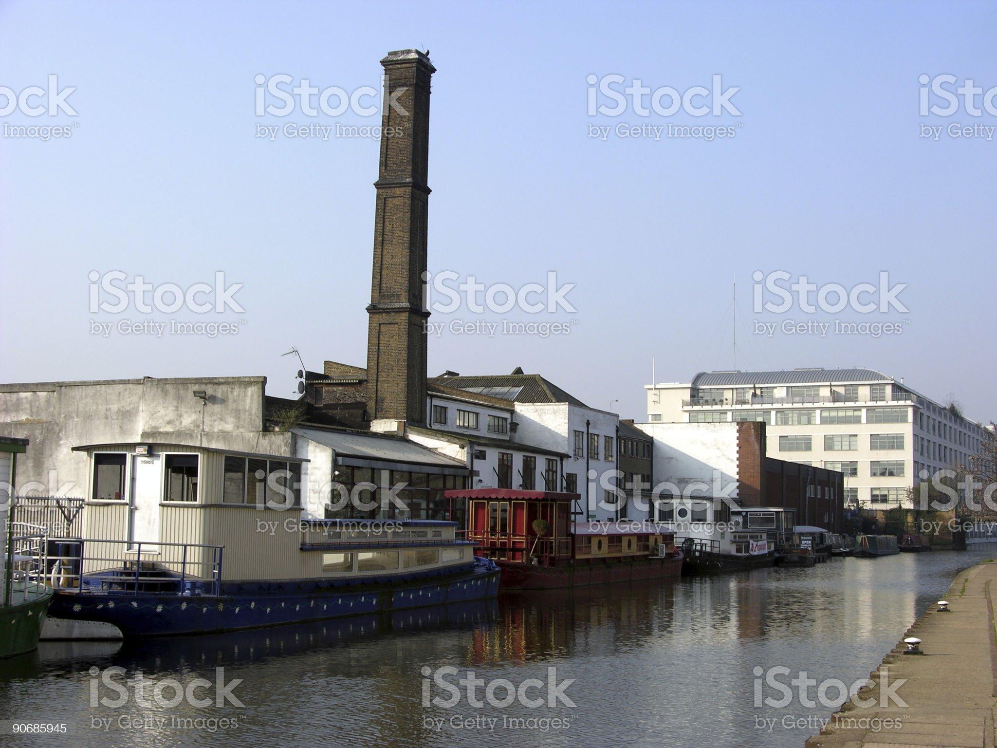 urban canal scene royalty-free stock photo