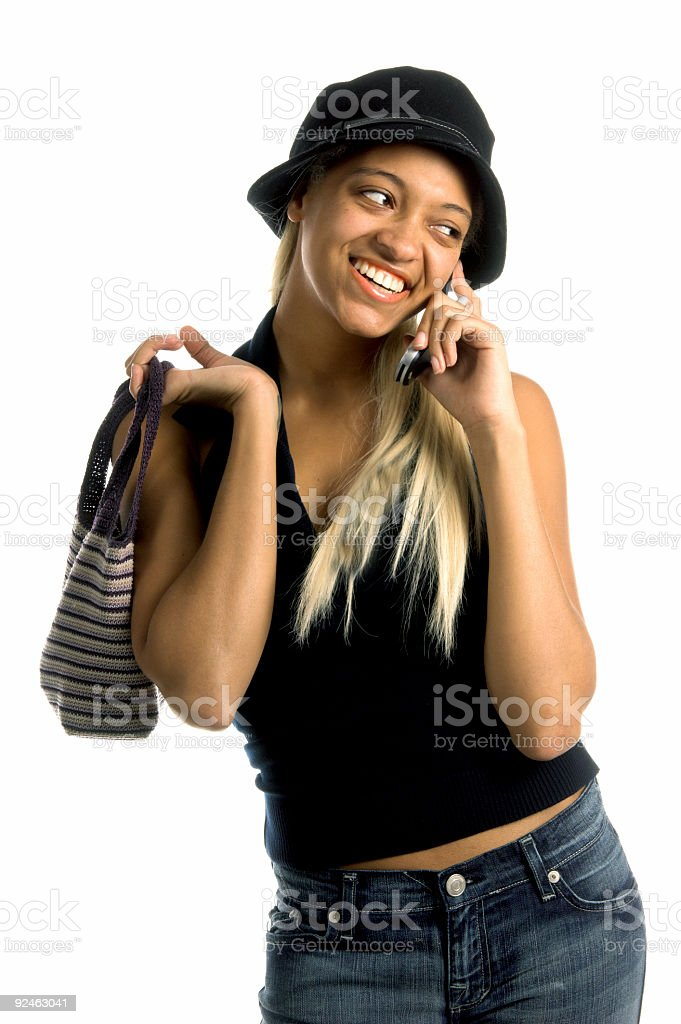 Urban Cell Phone Woman royalty-free stock photo