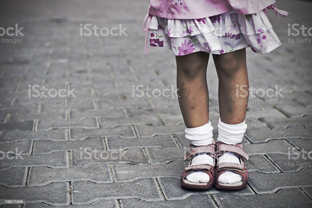 Urban childhood royalty-free stock photo