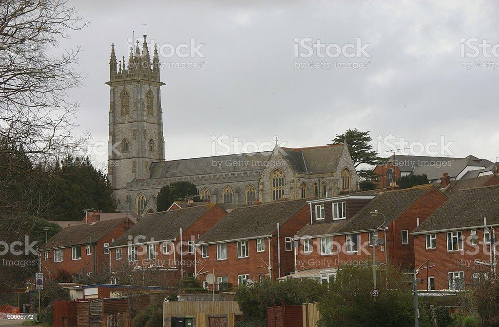 Urban church royalty-free stock photo
