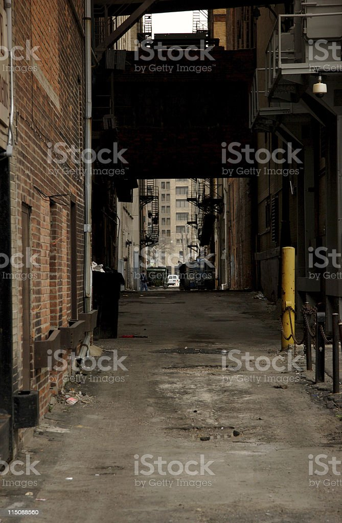 urban city alley royalty-free stock photo