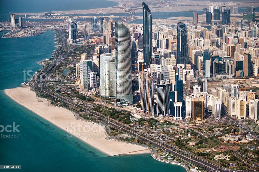 Urban city area in Abu Dhabi stock photo