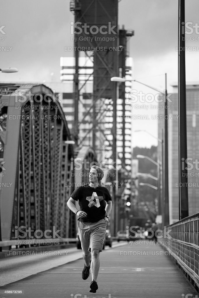Urban City Jogger Running for Exercise royalty-free stock photo