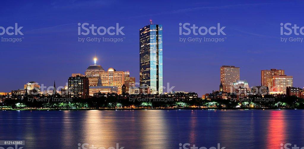 Urban City night scene stock photo