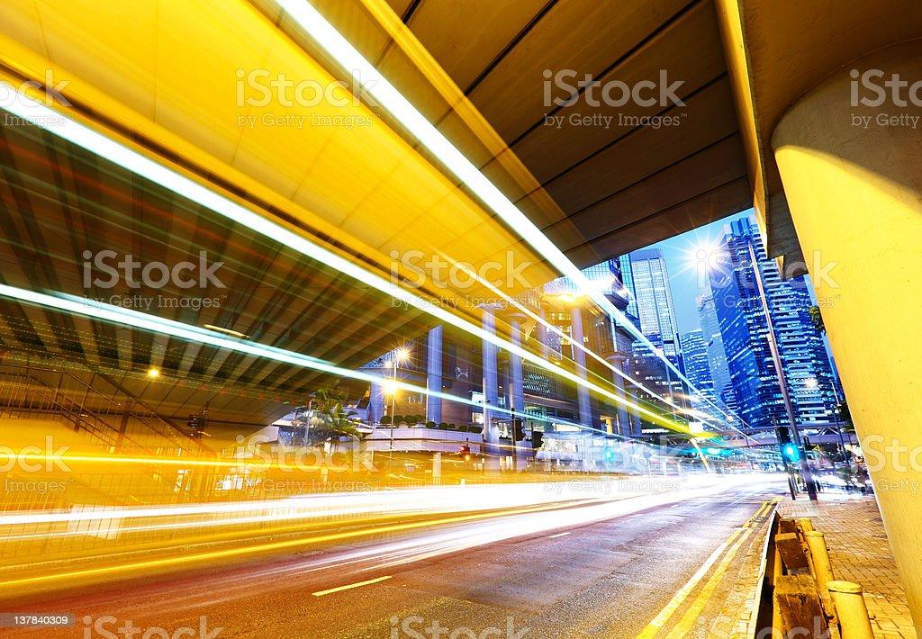 urban city night traffic royalty-free stock photo