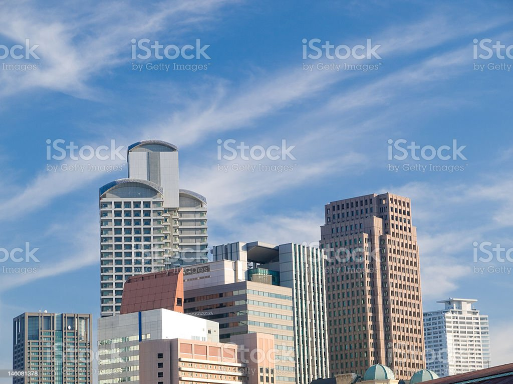 Urban city scene royalty-free stock photo