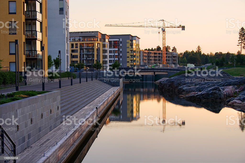 Urban cityscape in the morning royalty-free stock photo