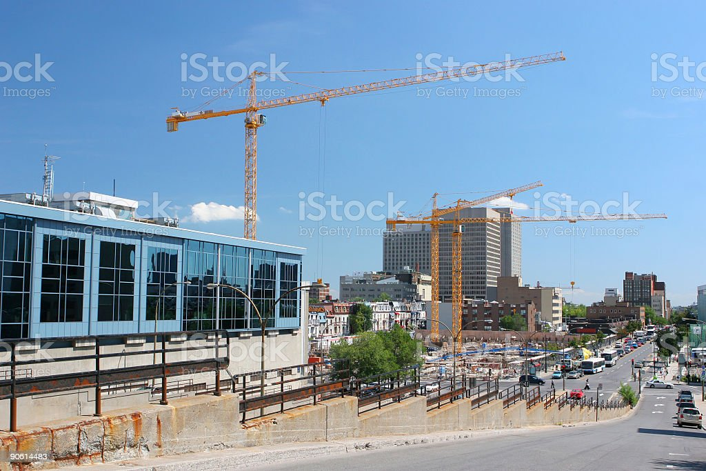 Urban Construction Site in Montreal royalty-free stock photo