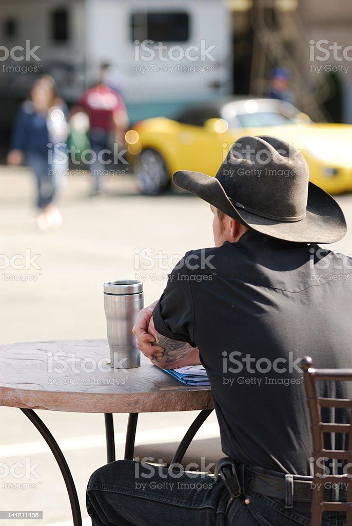 Urban Cowboy stock photo