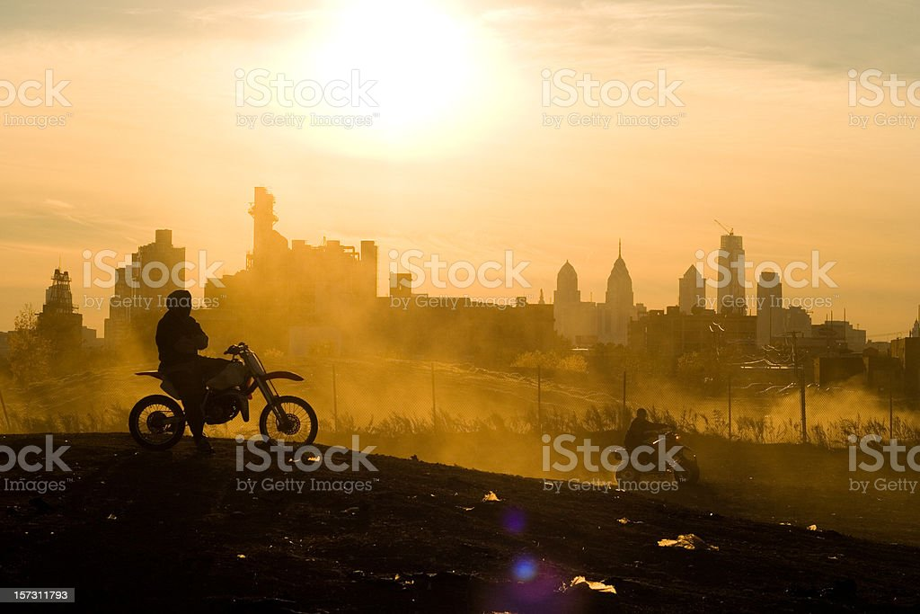 urban cowboy royalty-free stock photo