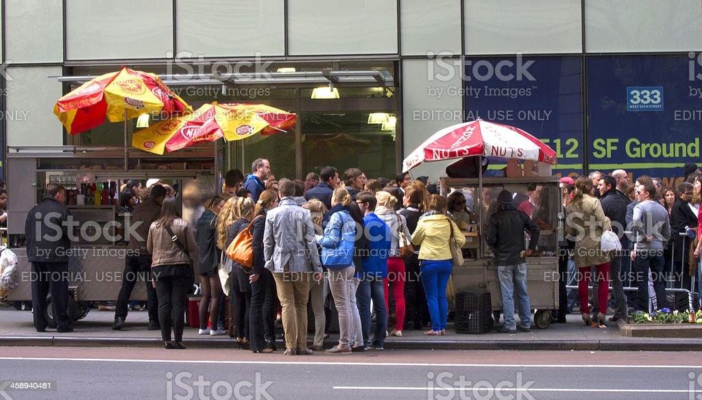 Urban Crowd Scene stock photo