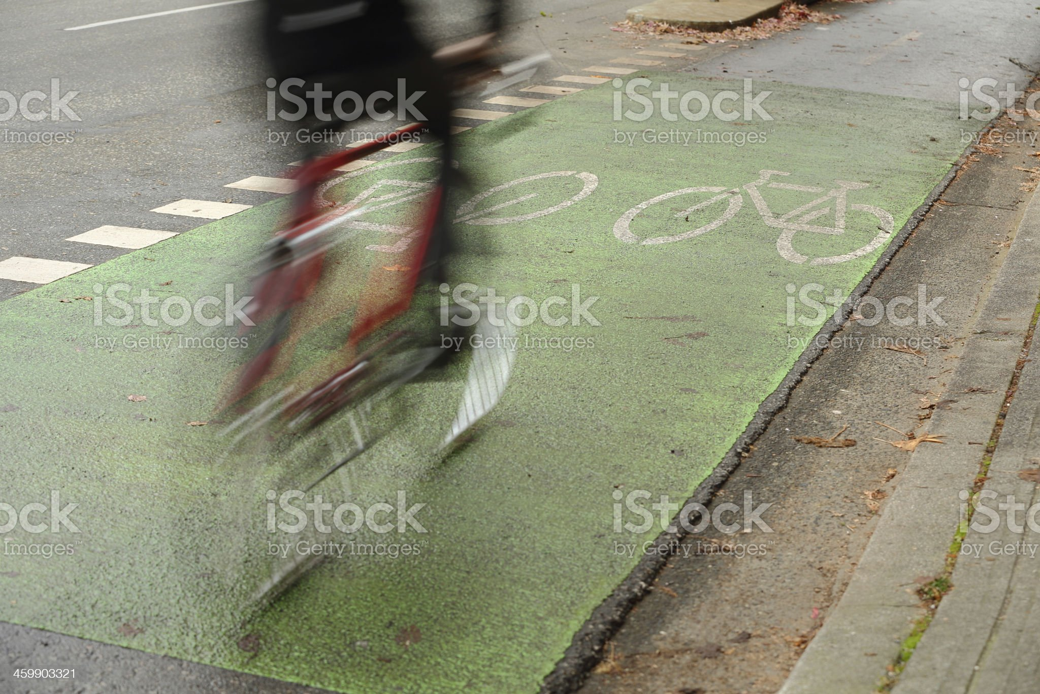 Urban Cycle Path, Vancouver royalty-free stock photo